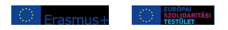 Erasmus + logó és Európai Szolidaritási Testület logó
